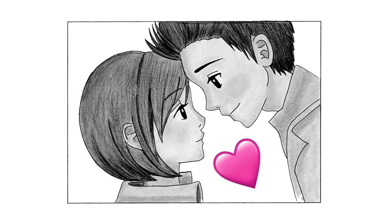 How To Draw Boy and Girl in Love [Drawing Anime Tutorial]