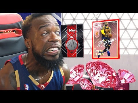 I PULLED THE GOAT!! PINK DIAMOND LEBRON JAMES PACK OPENING! NBA 2k18