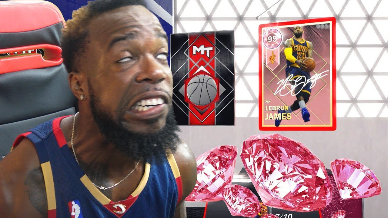 7ee3826115a8 I PULLED THE GOAT!! PINK DIAMOND LEBRON JAMES PACK OPENING! NBA 2k18 ...