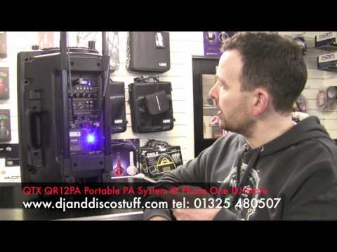 Portable Battery Powered Pa Speaker System by QTX - YouTube