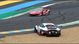 Le Mans 24h Test Day 2018, Porsche RSR #86 stuck in the gravel