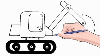 How to Draw an Excavator Easy Step by Step