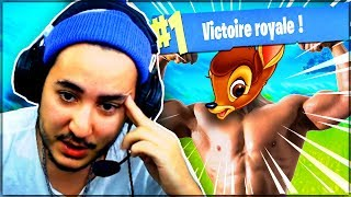 UN BAMBI CORIACE POUR LE TOP 1 ! (ft. ROBI) ► FORTNITE