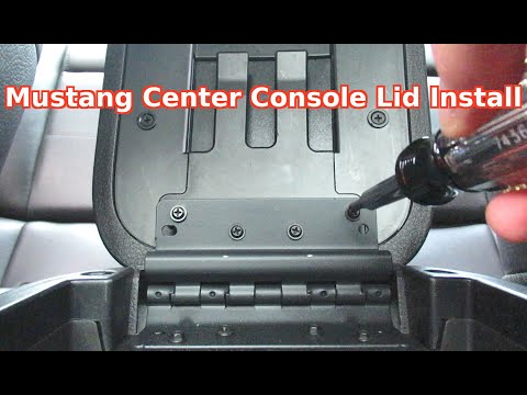 How To Easily Install Change Replace Center Console Armrest Lid Ford Mustang Car 2005-2009 DIY