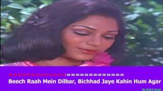 Chalte Chalte Mere Yeh Geet Karaoke   Kishore Kumar   Hindi Karaoke With Video LipsingTrack