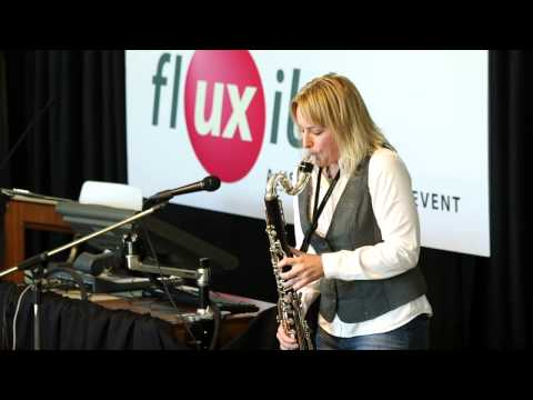 Kathryn Ladano plays bass clarinet at Fluxible 2013
