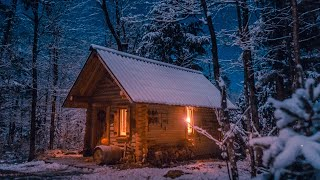 Building a Log Cabin Alone in the Snow   Off Grid Sauna Ep 4