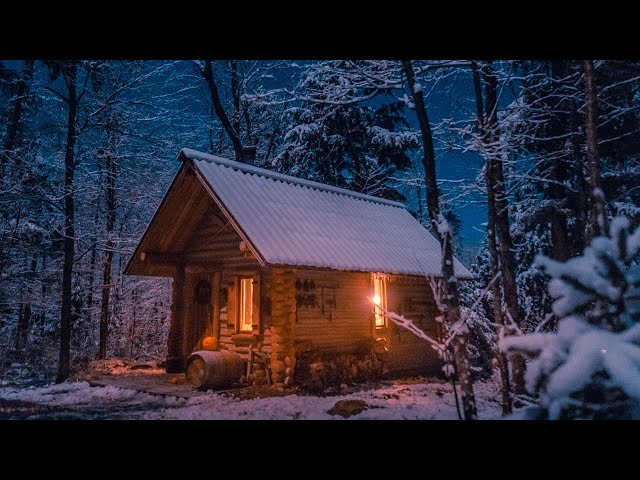 Building a Log Cabin Alone in the Snow | Off Grid Sauna Ep 4