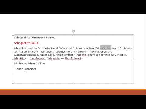 Goethe A1 Schreiben - Захиа хэрхэн бичих вэ? - YouTube