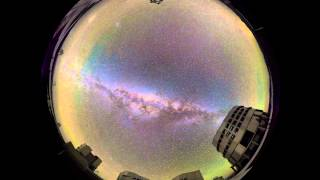 Galactic Center at zenith at Paranal observatory