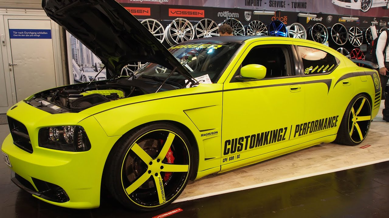 dodge charger srt 8 6 1 hemi v8 600 ps customkingz tuning at essen motorshow exterior. Black Bedroom Furniture Sets. Home Design Ideas