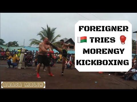 Foreigner Tries Morengy (Madagascar Kickboxing)