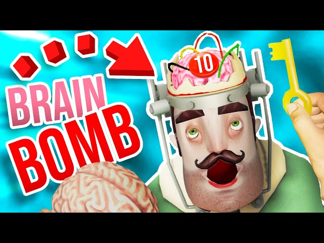 THE NEIGHBOR HAS A BOMB in HIS BRAIN!!?! (Surgeon Simulator Hello Neighbor VR)