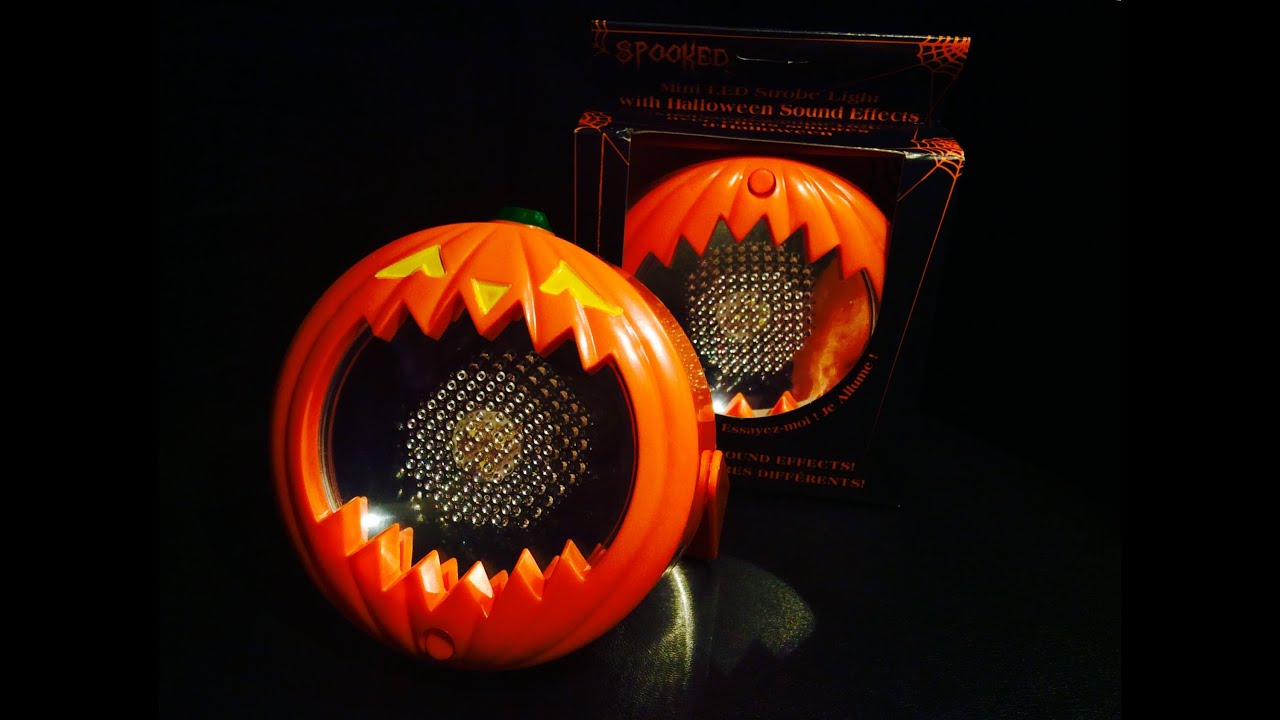 Mini Led Strobe Lights With Halloween Sound Effects R I