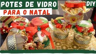 diy potes de vidro decorativo para natal