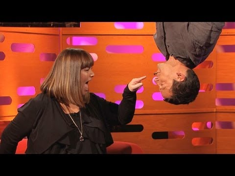 BEAR GRYLLS & DAWN FRENCH Do SPIDER-MAN Upside-Down Kiss: The Graham Norton Show on BBC AMERICA