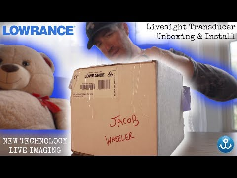 NEW Lowrance Livesight Transducer Unboxing & Installation