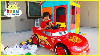 Download Ryan Pretend Play House with Lightning McQueen!! Mp3 and Videos