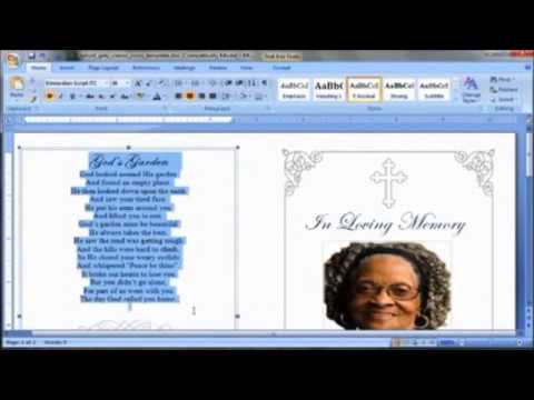 Doc549424 Free Funeral Program Templates for Word Free – Memorial Program Templates Free