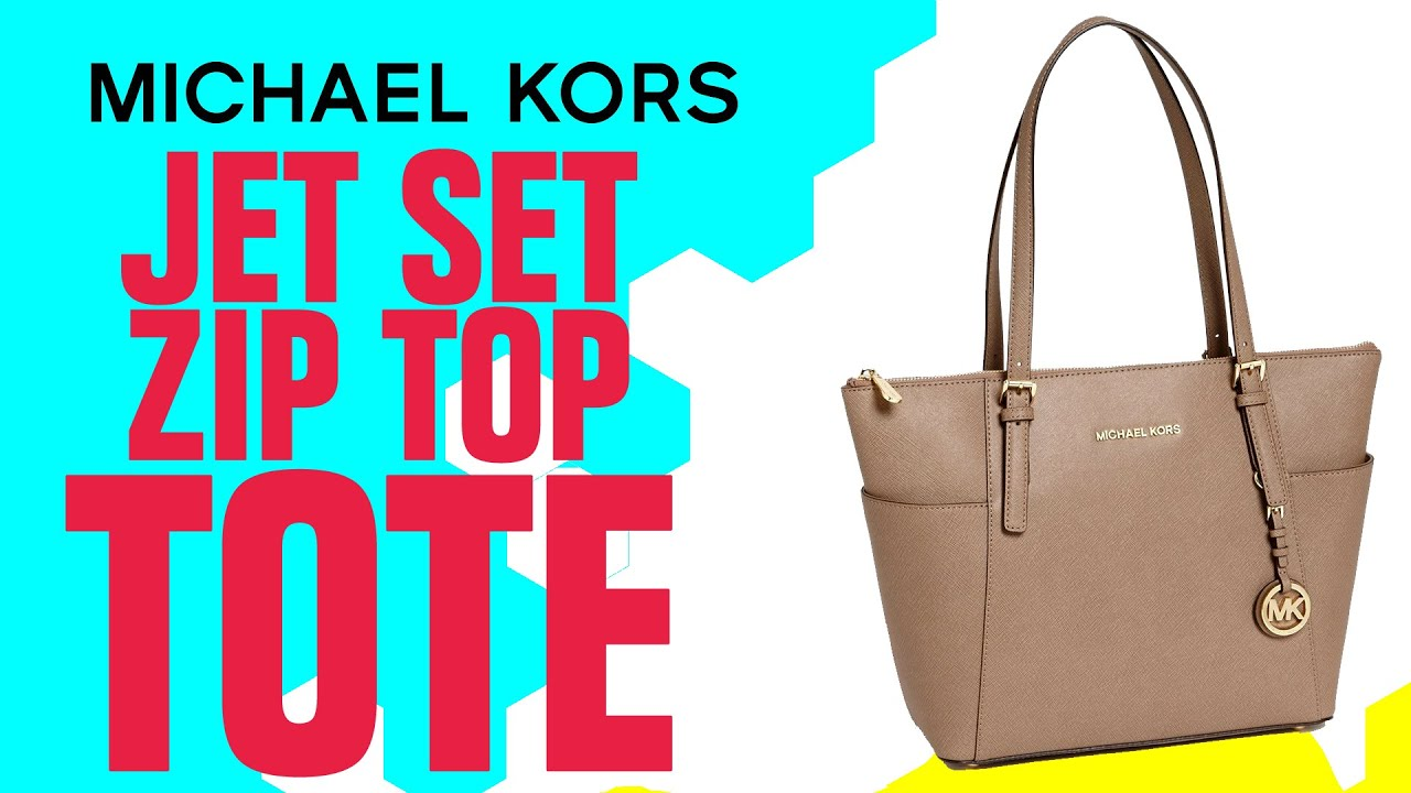 a6d41638b8a0 Micheal Kors Jet Set Zip Top Tote Review - YouTube