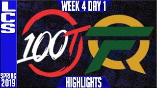 100 vs FLY Highlights | LCS Spring 2019 Week 4 Day 1 | 100 Thieves vs FlyQuest