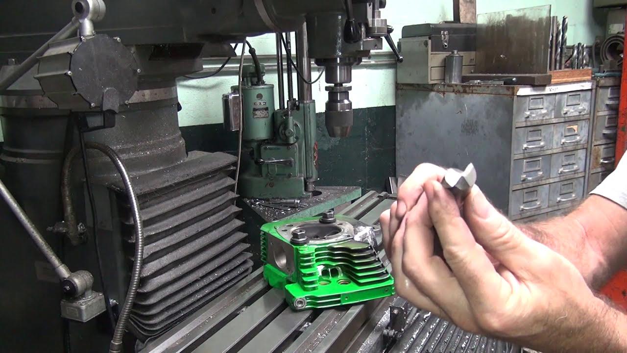 #103 Twin Cam Welding Repair Exhaust Port Stud Hole 110ci Harley Head  Machining Tatro Machine  Tatro Machine 01:17:11 HD