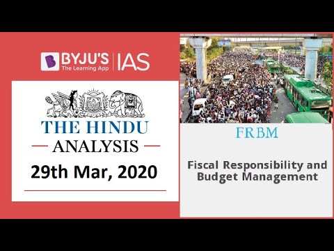 'The Hindu' Analysis For 29th March, 2020. (Current Affairs For UPSC/IAS)