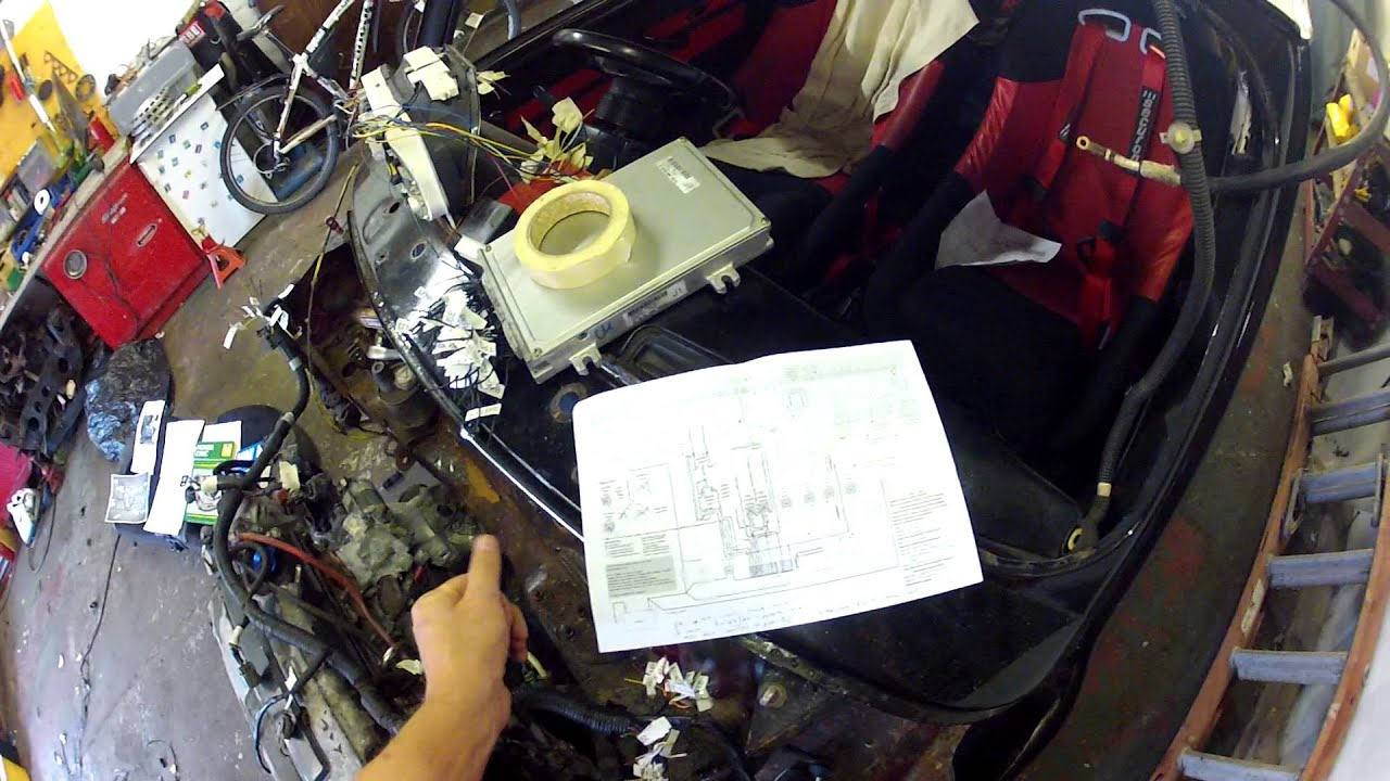 small resolution of project city r how to make a mini vtec wiring loom part1 classic b18c4