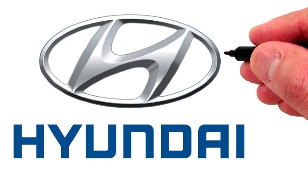 How To Draw The Hyundai Logo Famous Car Logos Youtube