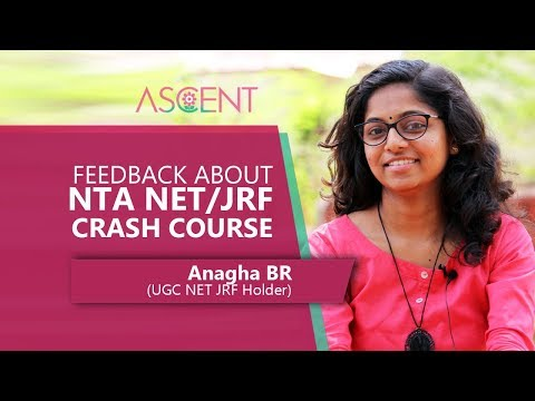 Feedback about ASCENT NTA NET Coaching Examination by Anagha BR