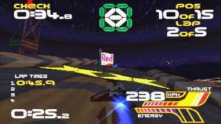Wipeout XL - PSX PS1 Gameplay + Review + Intro