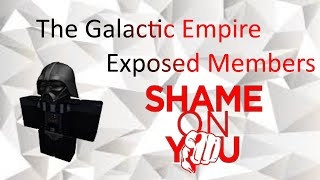 Roblox The Galactic Empire Exposed Abusive Players