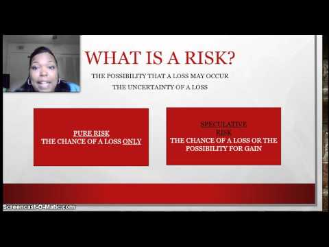 PART 3-  Introduction To Insurance - PURE AND SPECULATIVE RISK