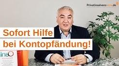 Was tun bei einer Kontopfändung? RA Ilias Uyar klärt Sie auf! http://www.privatinsolvenz-nrw.de