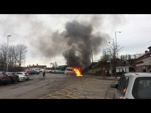 Minibus Fire - Wrexham Station
