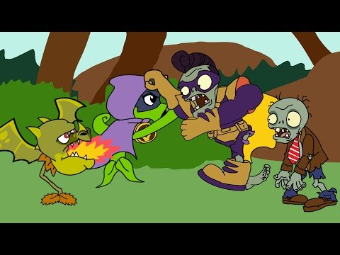 Plants vs zombies 2 Heroes ANIMATION Green Shadow vs Superbrainz (Parodia)