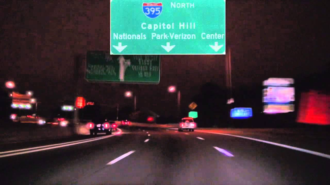 I-395 North at Night: Washington DC