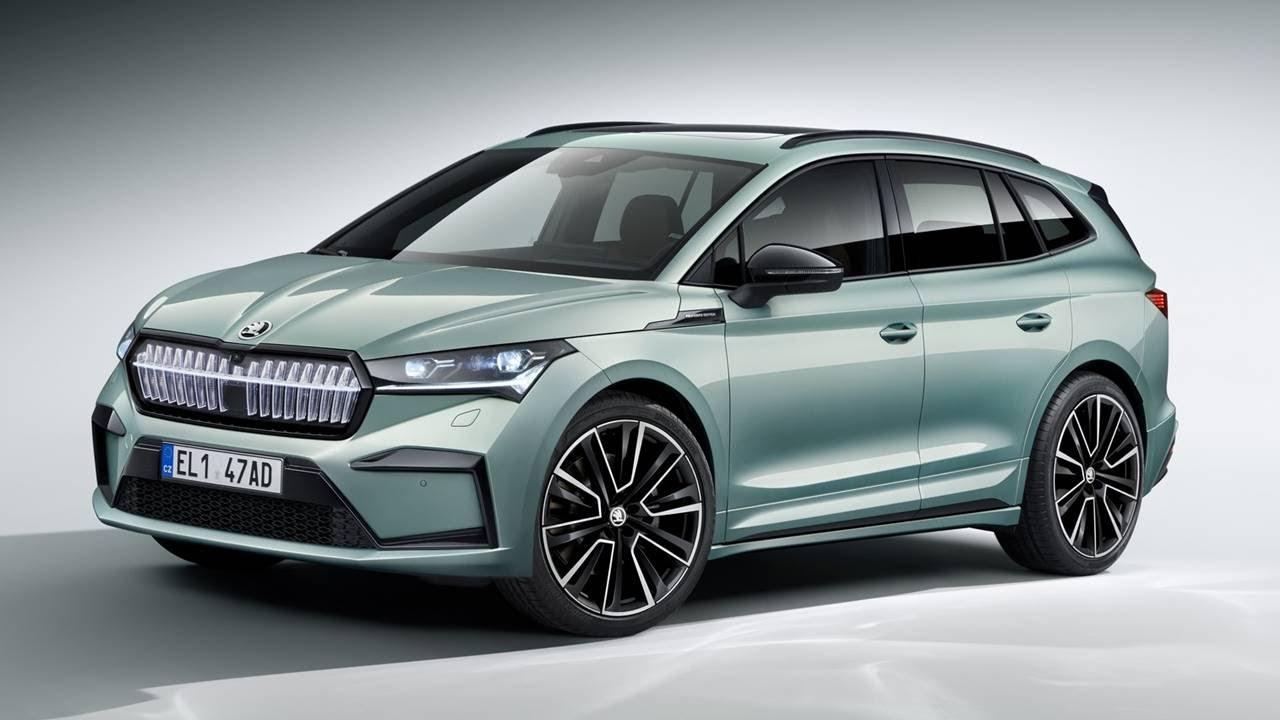 รถยนต์ไฟฟ้าใหม่ สุดไฮเทค SUV Skoda Enyaq iV EV 2021 วิ่งได้ 510 km  204 แรงม้า  exterior, interior