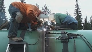 Pipeline Welding  -  54 Inch Section Work(This video is a rarity on my channel simply because it's one of the only pipeline videos I have which showcases uphand welding techniques. More specifically ..., 2014-06-24T06:14:41.000Z)