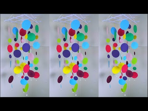 Amazing !!! DIY Paper Wall Hanging | Handmade Paper Craft Things | Wind Chime | ORIGAMI
