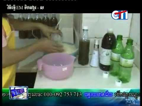 CTN morning tvshow learn how to make EM rice water by Mrs. Ing Sovanly (NKA)_clip01
