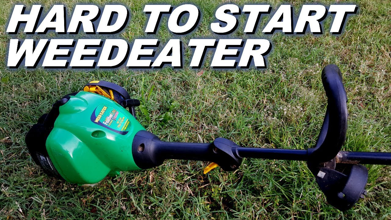 Hard To Start Weedeater Replace Or Repair Youtube