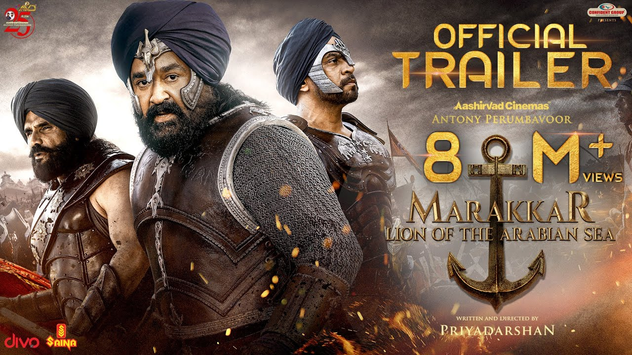 MARAKKAR - Official Hindi Trailer | Mohanlal, Suniel Shetty, Arjun, Prabhu | Priyadarshan