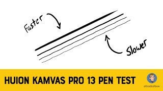 Huion Kamvas Pro 13 pen test