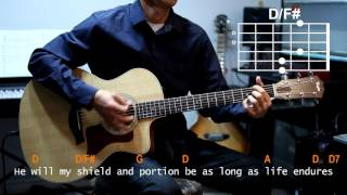 Chris Tomlin - Amazing Grace My Chains Are Gone Female Cover With Guitar Chords Lesson