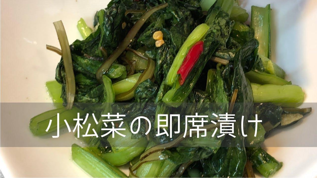 小松菜 ぬか 漬け