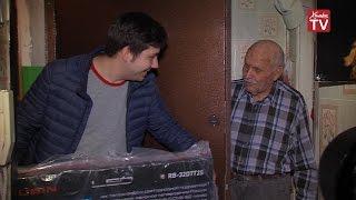 Ветеран Великой Отечественной войны получил в подарок телевизор от Химки-СМИ