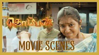 Komban Movie Scenes   I M Vijayan plan to kill Rajkiran in jail   Karthi comes to rescue Rajkiran