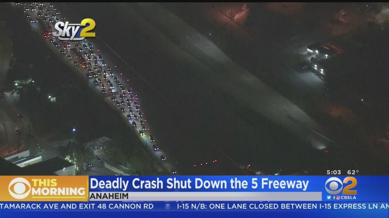 5 Freeway Reopens In Anaheim After Fatal Crash