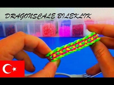 Lastik Bileklik yapımı Dragonscale - DIY...